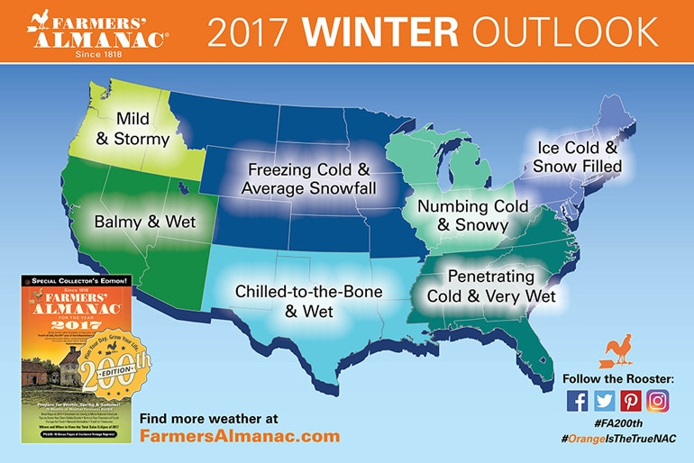 US Winter Outlook Farmers' Almanac