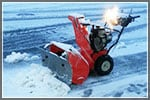 How to Plow Slush and Snow With a Snow Blower