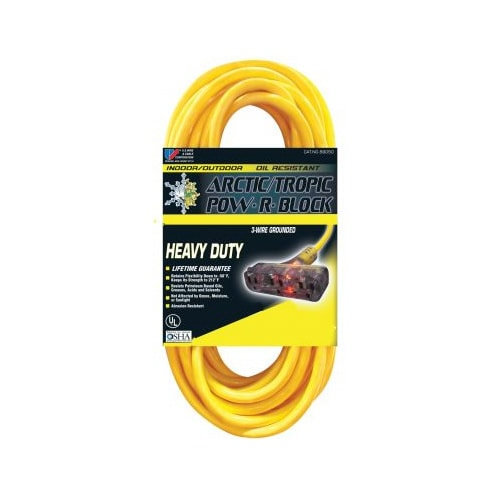 U.S. Wire Arctic/Tropic 25-Foot Extension Cord w/ 3 Outlets (12-Gauge)