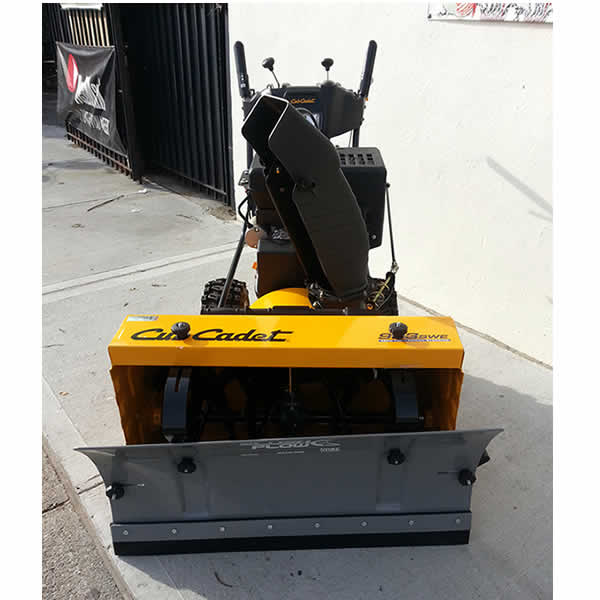 Slush Plow Attached To Cub Cadet 2-Stage Snow Blower