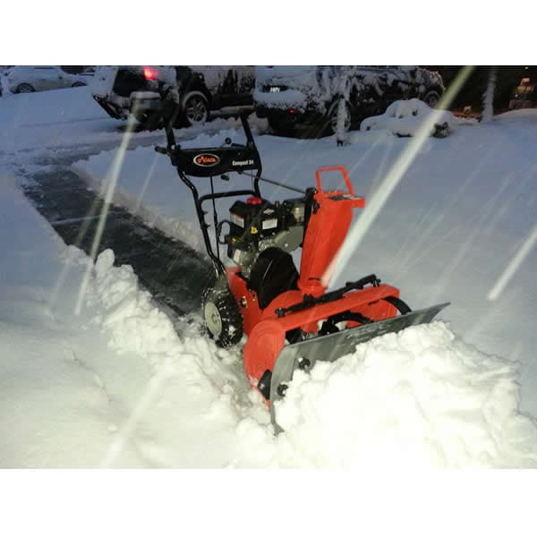 Slush Plow Attached to Ariens 2-Stage in Action