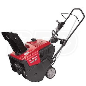 "Honda (20"") 187cc 4-Cycle Single Stage Snow Blower w/ Electric Start & Dual Chute Control"