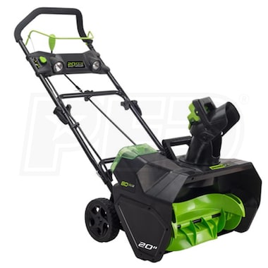 "Greenworks PRO (20"") 80-Volt Lithium-Ion Cordless Electric Snow Blower (No Battery - Tool Only)"