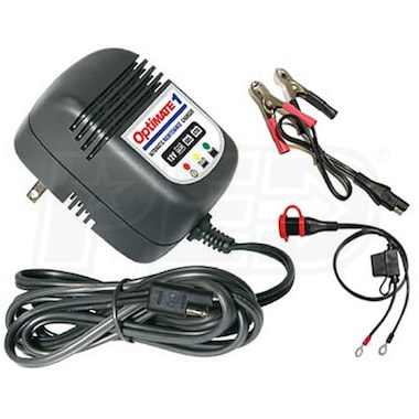TecMate OptiMate 1 - 12-Volt Battery Charger & Maintainer